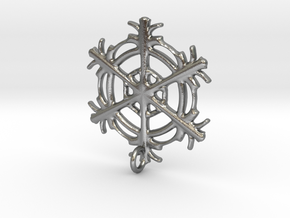 Snowflake Earring in Raw Silver
