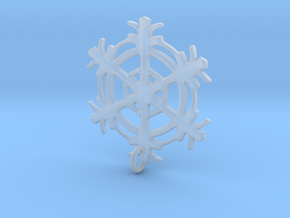 Snowflake Earring in Smooth Fine Detail Plastic