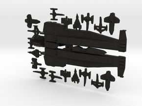 Wedge Supercarrier W/ Fighter compliment in Black Strong & Flexible