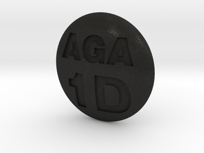 engraved go stone in Black Acrylic