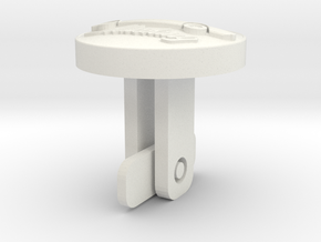 Mustang_cufflinks in White Natural Versatile Plastic