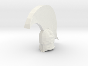 Knight6mm in White Natural Versatile Plastic