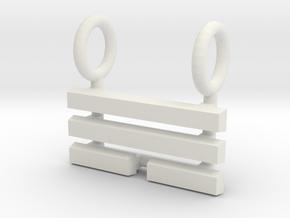 I Ching Trigram Pendant - Sun Upper in White Natural Versatile Plastic