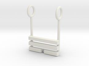 I Ching Trigram Pendant - Sun Lower in White Natural Versatile Plastic