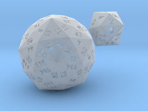 Catalan dice bundle 4 in Frosted Ultra Detail