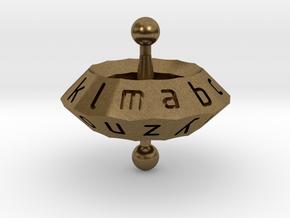 Space alphabet in Natural Bronze