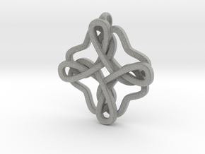 Friendship knot in Metallic Plastic