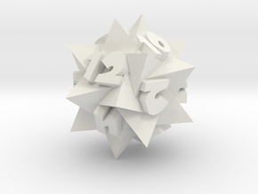 Compound of 5 Tetrahedra as d12 in White Natural Versatile Plastic