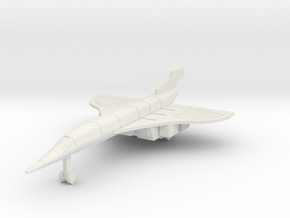 Silver Jet2 in White Natural Versatile Plastic