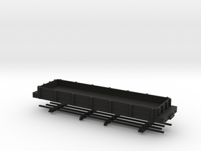 HOn30 28ft low sided gondola in Black Strong & Flexible