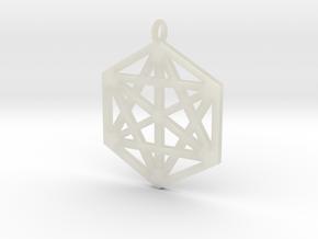Hexagram 40mm 2mm square in Transparent Acrylic
