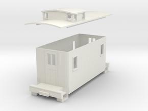 HOn30 Small caboose  in White Natural Versatile Plastic