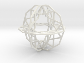 Girih Tile - Triple Decagon in White Strong & Flexible