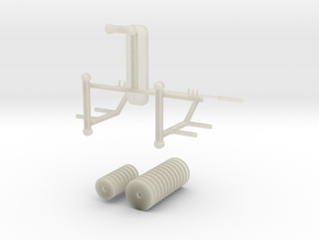 Mini Supine Bench Press in White Strong & Flexible