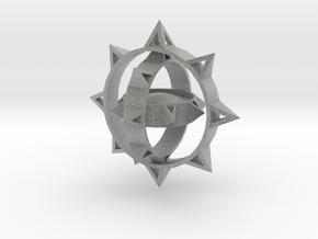 Sun Keychain Variation m2 in Metallic Plastic