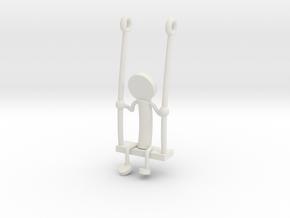 Little Swinger in White Natural Versatile Plastic