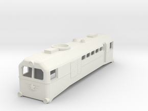 H0e Scale USSR TU2 Locomotive in White Natural Versatile Plastic