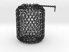Large Chain Maille Dice Bag in Black Strong & Flexible