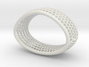 Pulsera in White Natural Versatile Plastic