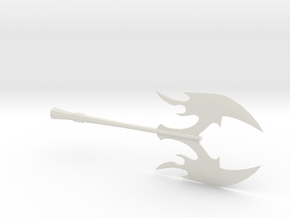 Miniature Battle Axe in White Natural Versatile Plastic