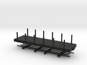 HOn30 24 ft flat with stakes in Black Natural Versatile Plastic