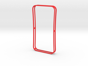 4-4 case for iPhone 4 GSM + CDMA/Verizon in Red Strong & Flexible Polished
