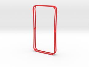 4-4 case for iPhone 4 GSM + CDMA/Verizon in Red Processed Versatile Plastic