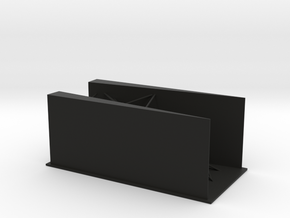 Angled Walls in Black Natural Versatile Plastic