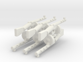 Psh41 gun wwII for lego 6 parts in White Natural Versatile Plastic