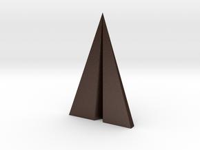Paper plane pendant in Matte Bronze Steel