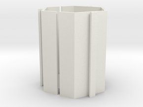 Mew Mew Desk Tidy 80mm in White Natural Versatile Plastic