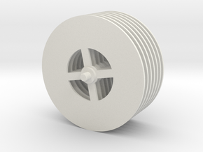 Tesla Turbine Disks Unit in White Natural Versatile Plastic