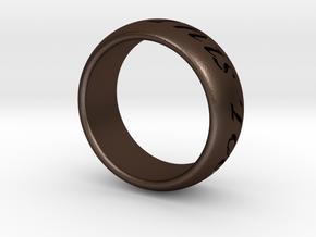 Custom Ring Outside Inscription  in Matte Bronze Steel