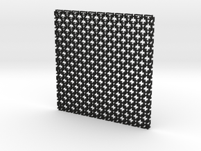 Square Maille flat N coaster (1) in Black Strong & Flexible