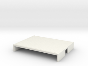OO9 flat wagon (short) in White Natural Versatile Plastic