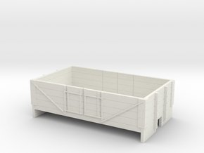 OO9 4 plank open wagon  in White Natural Versatile Plastic