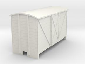 OO9 Goods van (long) sliding door in White Natural Versatile Plastic
