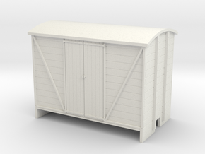 OO9 Goods van planked door in White Strong & Flexible