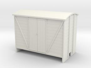 OO9 Goods van planked door in White Strong & Flexible