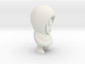Plain Hoodie in White Natural Versatile Plastic