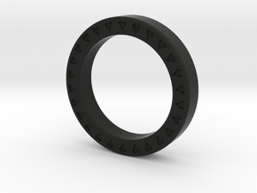 ♥♥♥ Heart Ring ♥♥♥ in Black Strong & Flexible