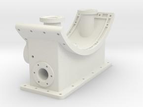 Smoke Box Saddle 1-16 in White Natural Versatile Plastic