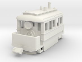 1001-3 Early Baldwin Steam Tram (Type B) 1:148 in White Natural Versatile Plastic
