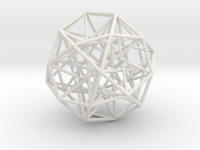 Sphere 2 Small in White Natural Versatile Plastic