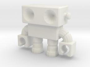 Robot 0014_v2 clamp hands in White Natural Versatile Plastic