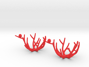 birdsnest eggcups duo in Red Strong & Flexible Polished