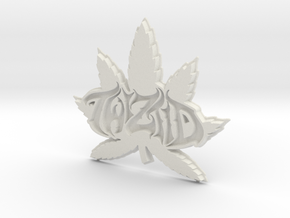 twiztid Pot leaf logo in White Natural Versatile Plastic