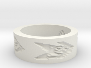 by kelecrea, engraved: A text in White Strong & Flexible