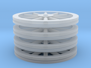 Large Spoked Wheel Set - Z scale in Frosted Ultra Detail