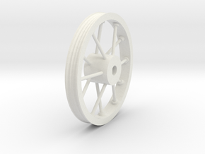 34mm Sheave in White Natural Versatile Plastic